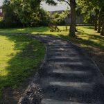 Photograph of railwau style footpath and trees