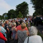 Photograph of lots of people attending the unveiling