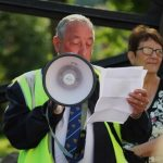 Photograph of Banner Group chair giving speech withen speech wrii