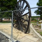 photograph of imprisonned pit wheel