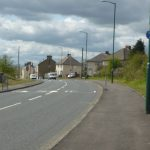 Photograph of cycle path as you approach the village of Quarrington hill