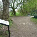 Photograph of interpretation board on Limestone Linx walk