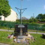 Photo of memorial in Quarrington Hill Community Centre grounds