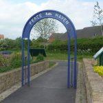 Photograph of arch in sensory garden