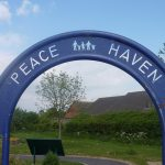 Photograph of Peace haven arch in sensory garden