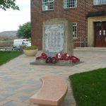 Photograph of War Memorial and bench