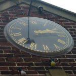 Photo of millenium clock on Village Hall in 2010