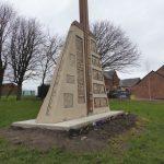 Photograph of mining memorial sculpture