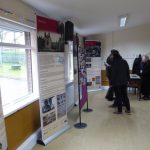 Photograph of exhibition in community centre