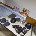 Photograph of mining artefacts in community centre