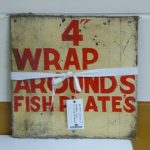 Photograph of 4 wrap around fish plates