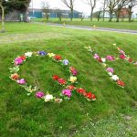Photograph of QH flowerbed in Quarington Hill