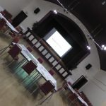 Photograph of Village Hall ready for event