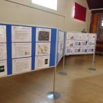 Photograph of exhibition boards at engament event in village hall