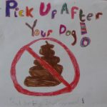 Photograph of poo poster asking people to clean up after their dogs in Coxhoe