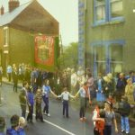 Photograph of people on streets of quarrington Hill