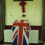Photograph of Union Jack display