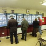 Photograph of people taking part in exhibition about Parish Plan 2