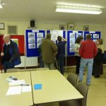 Photograph of lots of people taking part in exhibition