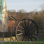 Photograph of pit wheel in the sunlight