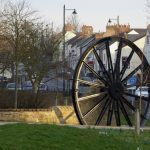 Photograph of pit wheel in the sun