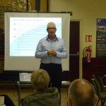 Photograph of presentation on parish planning