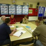 Photograph of people effectively taking part in parish planning