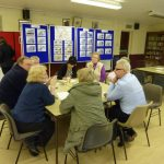 Photograph of people generating proposals while taking part in parish planning