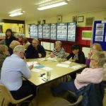 Photograph of people taking part in parish planning workshop