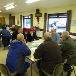 Photograph of people creatively taking part in parish planning