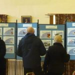 Photograph of people at Parish Plan 2 exhibition at Coxhoe Village Hall