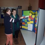 Photograph of young people at exhibition at Coxhoe Village Hall