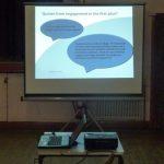 Photograph of projected Parish Plan presentation slides