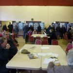 Photograph of parish planning participants at work generating idea in Coxhoe