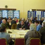 Photograph of parish planning participants resolving problems