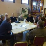 Photograph of mainstream parish planning participants at work