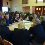 Photograph of parish planning participants hard at work