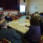 Photograph of procrastinating parish planning participants at work