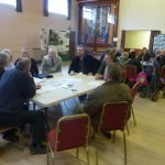 Photograph of parish planning participants at work and I cant think of alternative wording