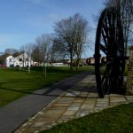 Photograph of the fantastic pit wheel with huge shadow