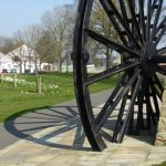 Photograph of the world famous pit wheel and shadow