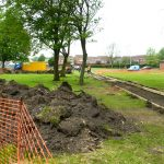 pHOTOGRAPH OF MOUND OG EXCAVATED EARTH