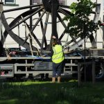 Photograph of PITWHEEL being unstrapped