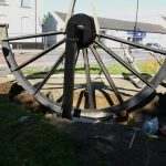 Photograph of pitwheel being secured to site