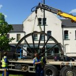 Photograph of second half of pitwheel being fixed to site step 4