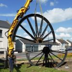 Photograph of second half of pitwheel being fixed to site step 7