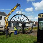 Photograph of second half of pitwheel being fixed to site step 8