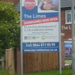 Photograph of The Limes builders advert sign