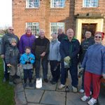 Photograph of former members of Coxhoe Community Partnership and other volunteers