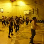 Great photograph of Zumba participants